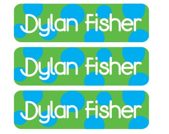 Personalized, waterproof, dishwasher-safe, vinyl baby bottle labels - Customizable