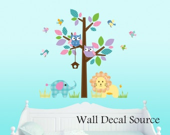 Nursery Tree Decal - Vinyl Wall Decal - Nursery Tree Wall Decal
