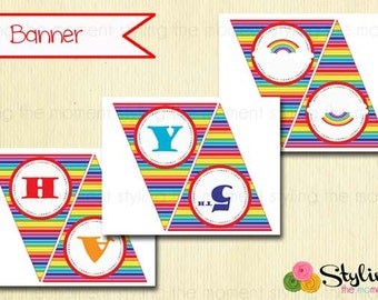 Rainbow Personalized Banner