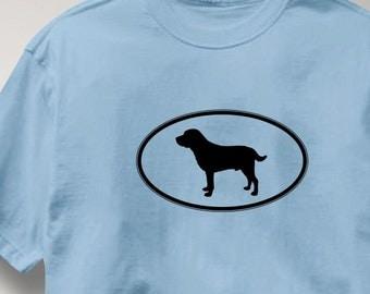 Labrador Retriever Oval Profile Dog T Shirt Tee Shirt Mens Womens Ladies Youth Kids