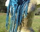 Sassy Scarf/Shawl/Skirt...Upcycled T-shirt...Deep Turquoise