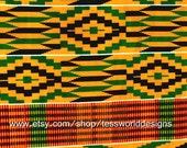 Fabric, Authentic Cotton Kente cloth, African Fabric, African Print.
