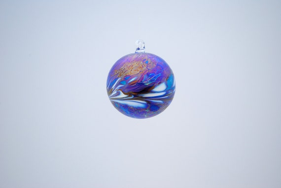 e00-61 Small Iridescent Dark Blue Suncatcher