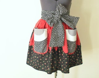 Rockabilly Apron- Ghoulia Inspired Apron- Guro Lolita Cosplay Apron- Zombies- Deluxe Apron