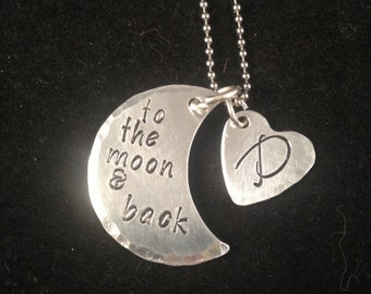 To The Moon and Back handmade necklace