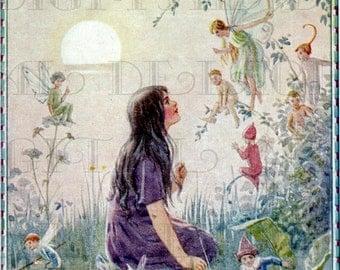 FAIRY Secrets. Margaret TARRANT.  Vintage Book Plate Illustration. Fairy Digital Download. Vintage Digital PRINT