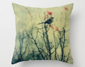 The Woods - Throw Pillow, Home Decor, nature, photography, bird, trees, woods, woodland, rustic, forest,