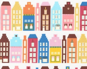 Little Houses (Retro) from Suzy's Dollhouse by Suzy Ultman for Robert Kaufman Fabrics - price is by the yard