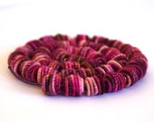 Small Handmade Fabric Textile Beads for Artisan Jewelry Designs - 5 Beads