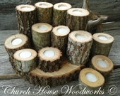 12 Tree Branch Candle Holders, Rustic Wedding Candle Holders, Rustic Wedding Centerpieces, Wood Candle Centerpieces