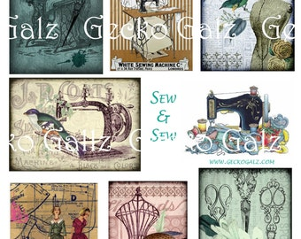 Sew & Sew Digital Collage Sheet