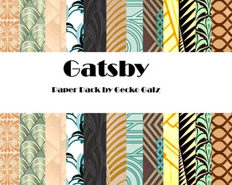 Gatsby Digital Paper Pack