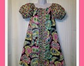 Paisley Peasant Dress Spring
