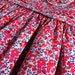 """Liberty Tana Lawn Dress made in red """"Wiltshire Berries"""" print, for A Little Girl"""