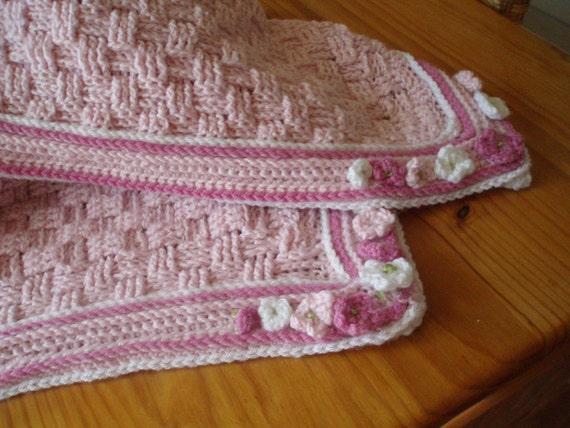Crochet Pattern for Basket Weave Baby Blanket Crib Blanket