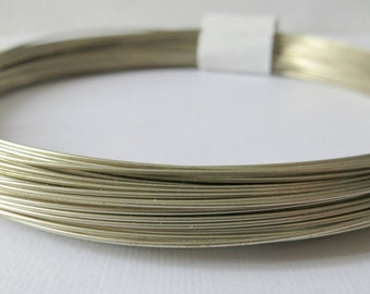 Nickel Silver Wire, 20 gauge, Half Hard Temper, 50 Feet, Rosary Wire, Make Your Own Rosary Supplies