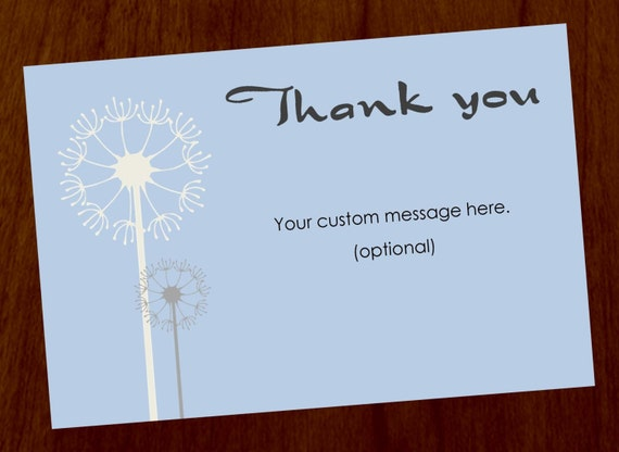 Dandelion 4x6 Custom Printable Thank You Card