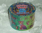 Lisa Frank Baby Leopard Laser Sticker Mania Roll MIP Over 300 Stickers