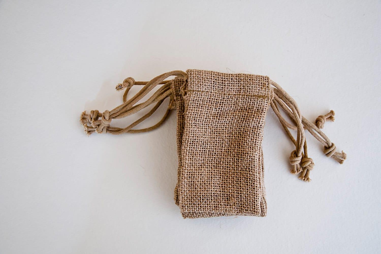 60 small burlap wedding favor bags quantity 60 3x5 for 60 burlap