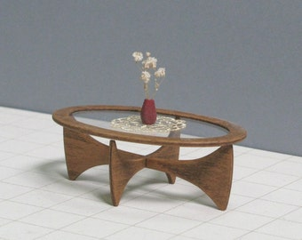 Wooden coffee table 1 12 scale model collectible by minimodels Scale model furniture