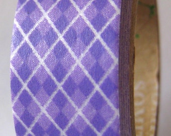 "SALE Washi Tape ""Argyle in Purple"" 15mm x 10 Meters"