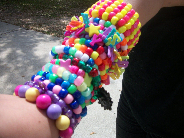 kandi grabbag 15 kandi bracelets plus one kandi cuff