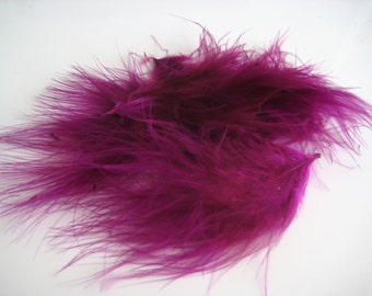 Magenta Pink Itty Bitty Marabou Feathers / 10 feathers