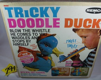 1960's Remco Tricky Doodle Duck