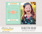 INSTANT DOWNLOAD - Photography Marketing board - Photoshop Newsletter template, vol.8