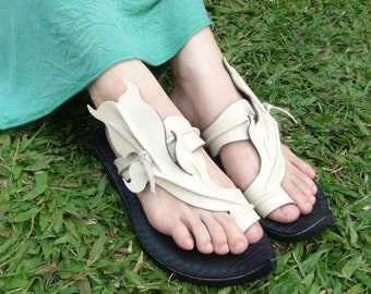 Handmade Leather Sandals Women and Men***Tulip design***