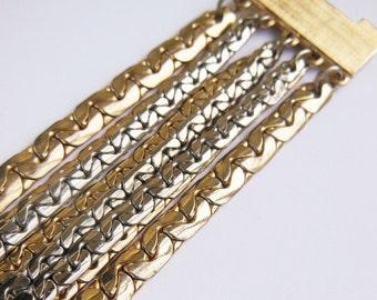 Multi 8 Strand Metal Vintage Bracelet