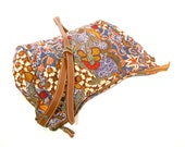Lovely Liz Claiborne Shoulder Bag. Chintz Fabric Handbag. Leather Strap. Beautiful. 1980s.