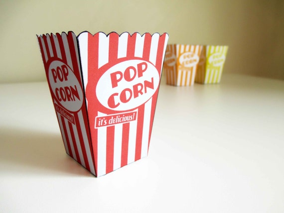 popcorn container template - items similar to instant download printable 3 small