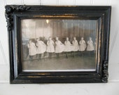 Old Framed Photo of a Dance Recital - Black and White/Sepia