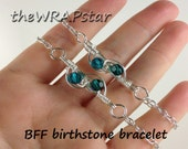Wire Wrapped Jewelry Handmade Gifts for Best Friends Gift Birthstone Jewelry Friendship Bracelet Friendship Jewelry BFF Bracelet ITEM0602