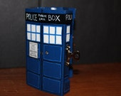 A custom painted blue police Box Jewelry/play Box
