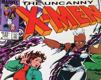The Uncanny X-Men Comic Book  Marvel   Vol. 1, No. 180, April 1984