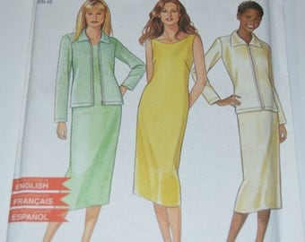 New Look 6893 Dress and Jacket Sewing Pattern  - UNCUT - Sizes 6-16
