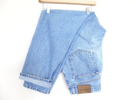 Boyfriend Jeans - 90's Calvin Klein Paint Splattered Denim  - 33 x 30