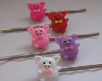 SALE Super Cute Piglet Bobby Pins