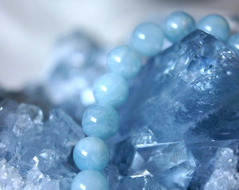Aquamarine Natural Stone Bracelet