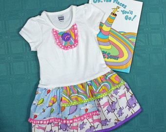 T-shirt dress toddlers girls pdf pattern easy SILLY GOOSE