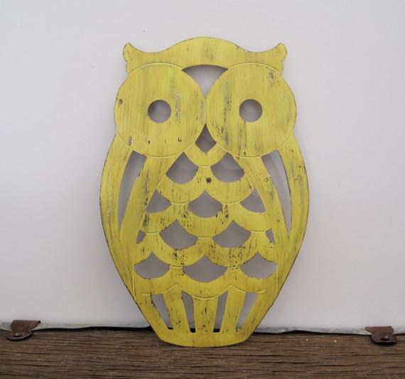 Rustic Owl Trivet Vintage Home Decor