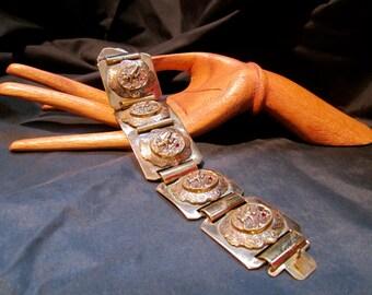 Large Block Cuff Link Bracelet