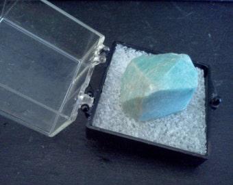 One Inch Perky Box Miniature Specimen of Amazonite Colorado