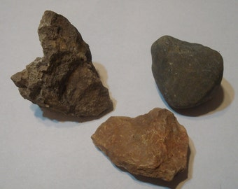 Natural - Heart Rocks - Hearts - Love - Peace - Nature - Lot of Three, Package One