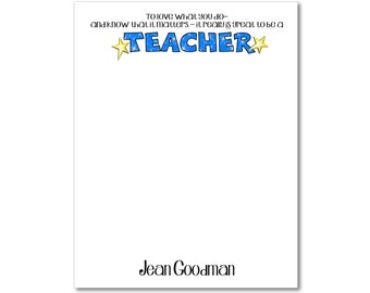 Personalized Teacher Notepads - Set of 2