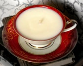 Teacup Soy Candle: Alka Bavarian Red