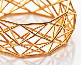 3D printed Geometric Statement Bracelet