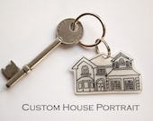 Handmade Custom Portrait Keyring, featured on TODAY SHOW, perfect gift to new home owners, or just as a special memento to add to your keys
